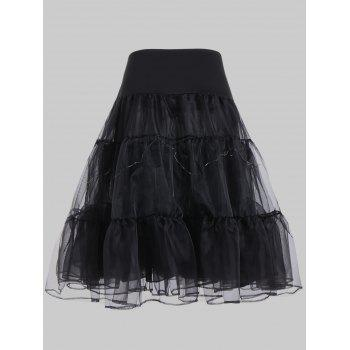 Grand style Light Up Cosplay Party Skirt - Noir 4XL