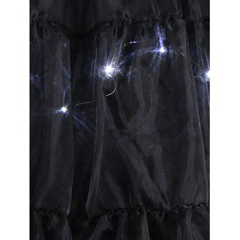Grand style Light Up Cosplay Party Skirt - Noir 5XL