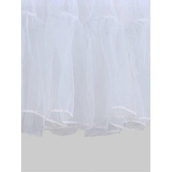 Grand style Light Up Cosplay Party Skirt - Gris Clair 6XL