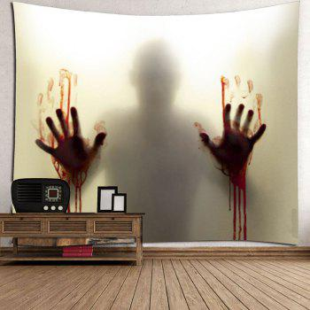 Blood Hand Shadow Printed Wall Tapestry - SMOKY GRAY W71 INCH * L71 INCH