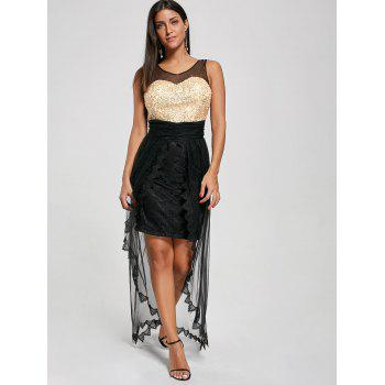 Glitter Mesh Tulle Prom Party Dress - M M
