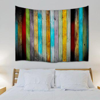 Colorful Woodgrain Wall Hanging Fabric Tapestry - COLORMIX W71 INCH * L91 INCH