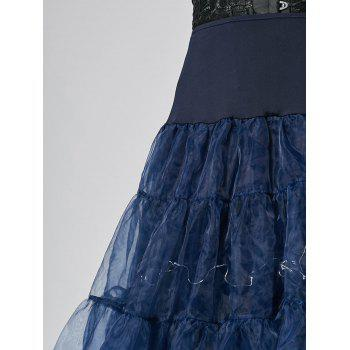 Flounce Light Up Cosplay Skirt - CERULEAN XL