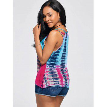 Sleeveless Tie-Dyed Print Baggy Blouse - COLORMIX COLORMIX