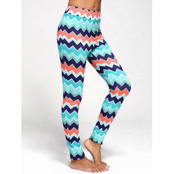Chevron Print Flare Pants