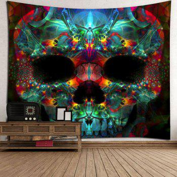 Halloween Skull Wall Art Tapestry - COLORFUL W79 INCH * L79 INCH