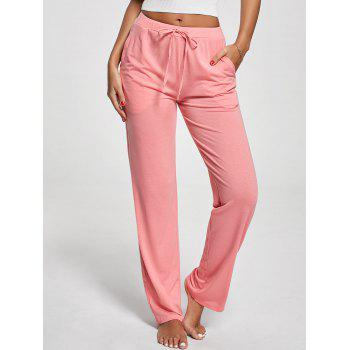 Vertical Pocket Drawstring Pants - PINK PINK