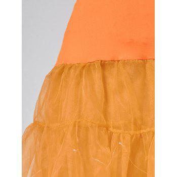 Flounce Light Up Cosplay Skirt - ORANGE ORANGE