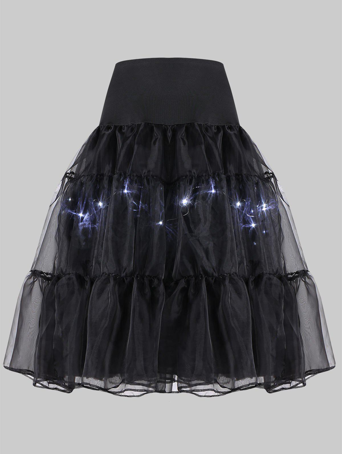 Plus Size Light Up Cosplay Party Skirt flounce light up cosplay skirt