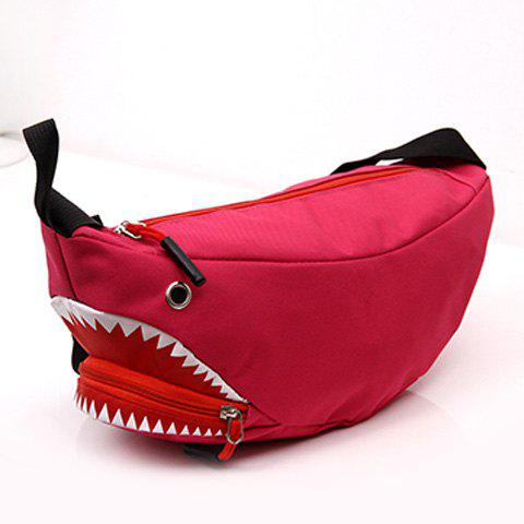 Sac décapotable Funny Shark Cross Body - rose