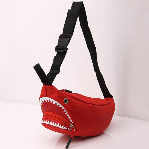 Sac décapotable Funny Shark Cross Body - Rouge