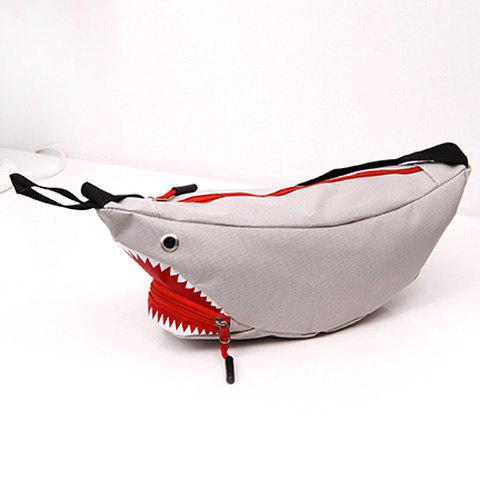 Sac décapotable Funny Shark Cross Body - gris