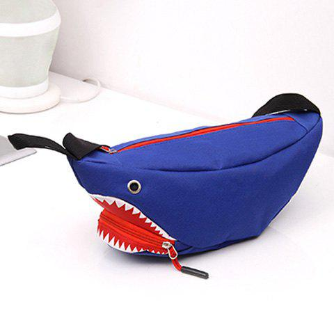 Sac décapotable Funny Shark Cross Body - Bleu