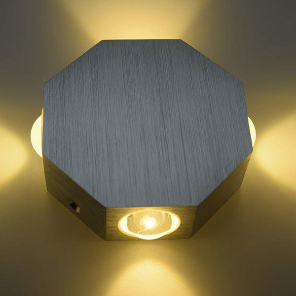 Energy Saving Aluminum Modern LED Wall Light - YELLOW