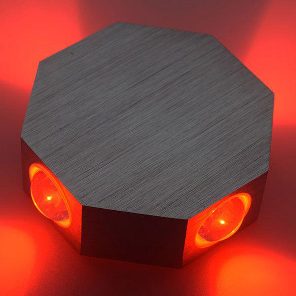 Energy Saving Aluminum Modern LED Wall Light - RED