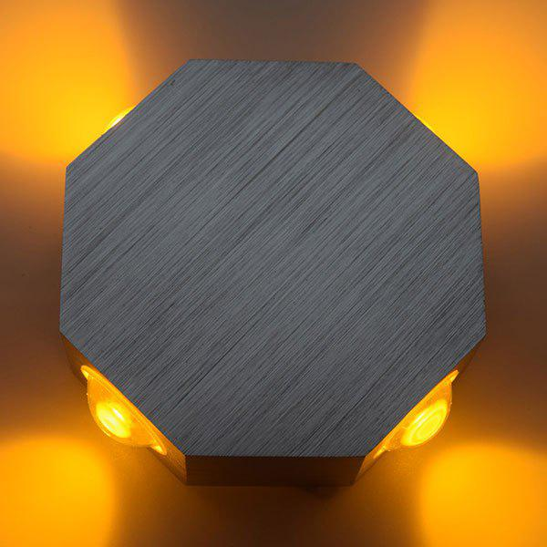 Energy Saving Aluminum Modern LED Wall Light - DEEP YELLOW