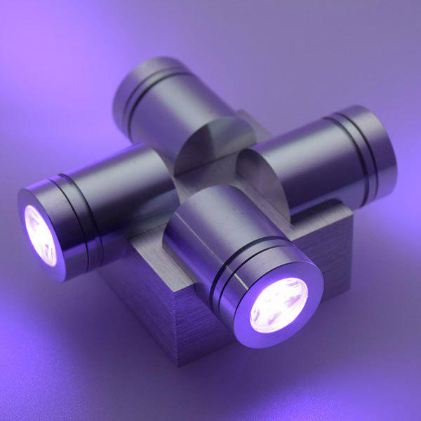 Home Decor Aluminum LED Modern Wall Light - PURPLE