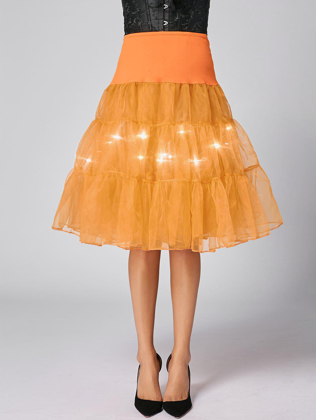 Flounce Light Up Cosplay Jupe - Orange XL