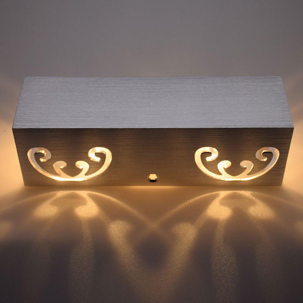 Modern Cuboid Shape Aluminum LED Wall Light - WARM WHITE LIGHT