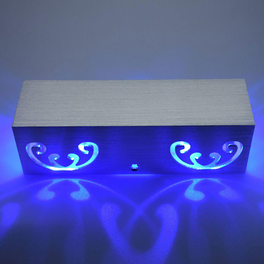 Modern Cuboid Shape Aluminum LED Wall Light - BLUE