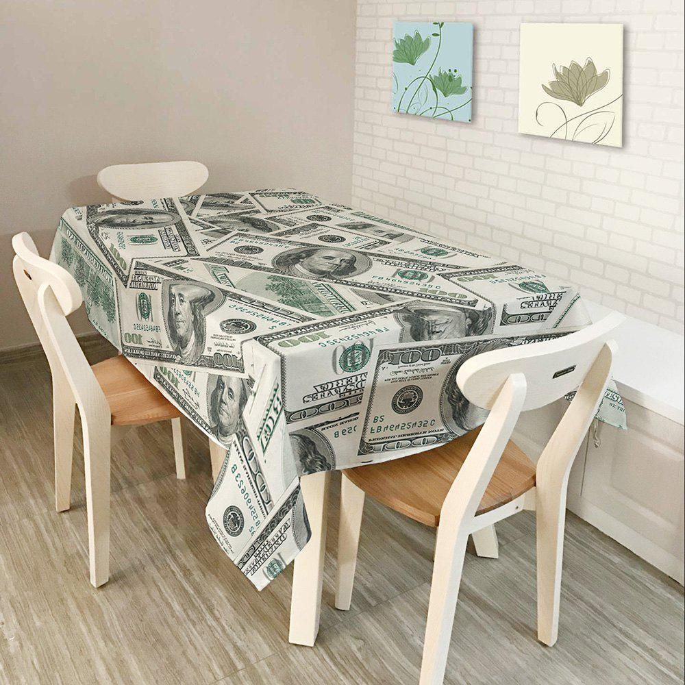 Dollars Print Waterproof Table Cloth - GRAY W54 INCH * L72 INCH