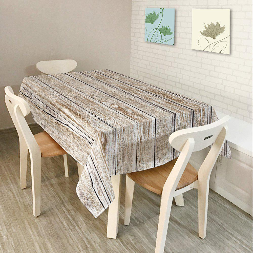Wood Flooring Print Waterproof Table Cloth - GREY WHITE W60 INCH * L84 INCH