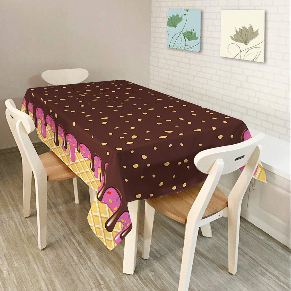 Chocolate Print Waterproof Table Cloth
