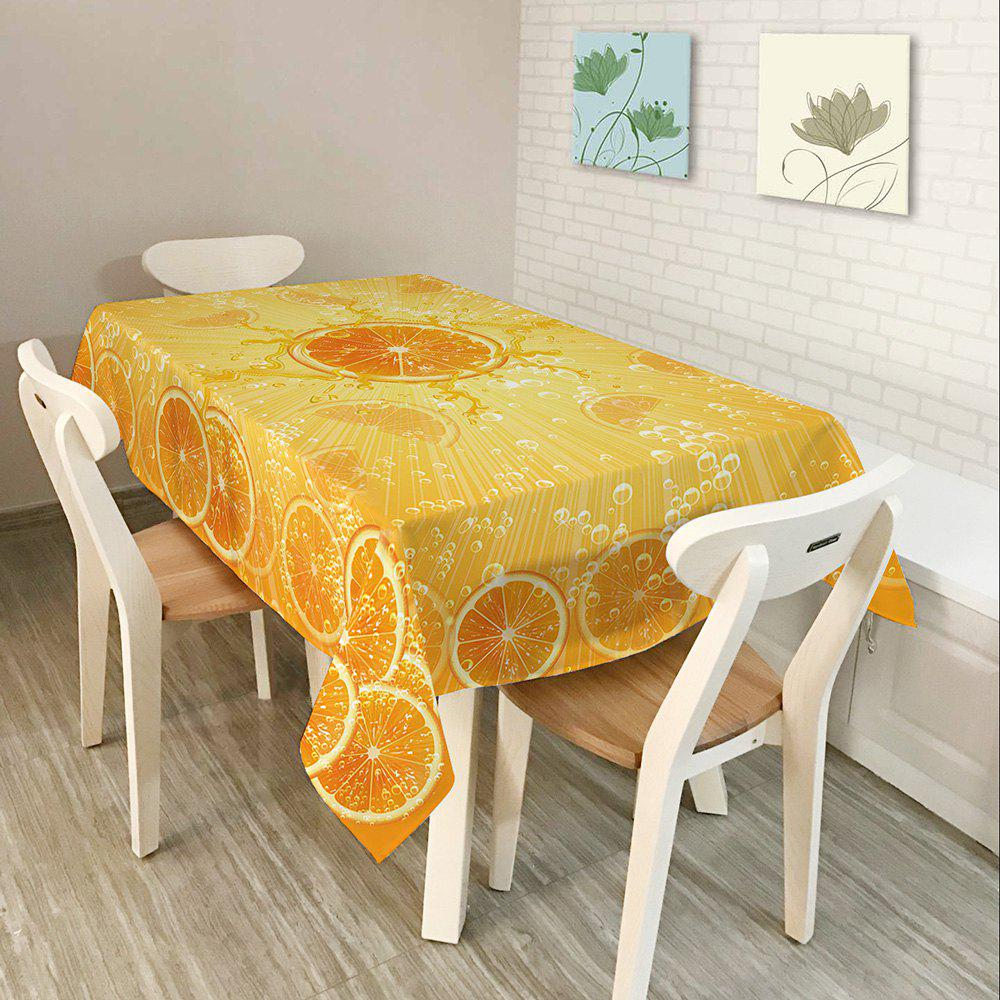 Orange Print Waterproof Table Cloth - ORANGE W54 INCH * L54 INCH