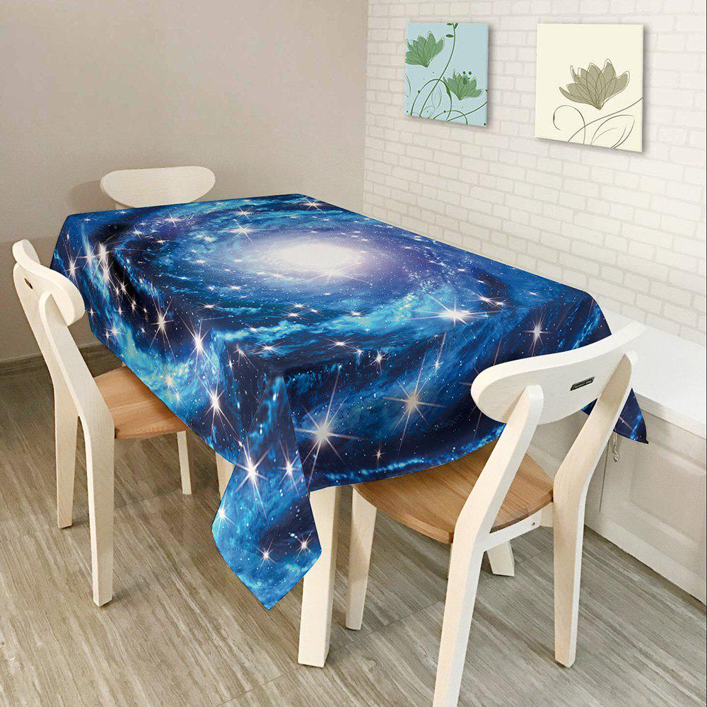 Starry Sky Print Waterproof Table Cloth - BLUE W54 INCH * L54 INCH