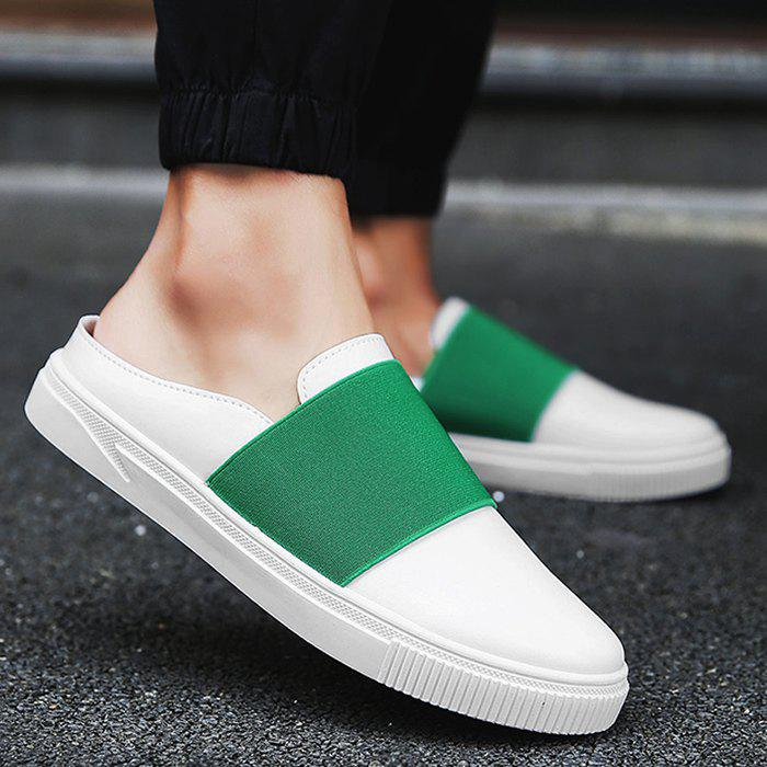 Elastic PU Leather Casual Shoes - GREEN 41