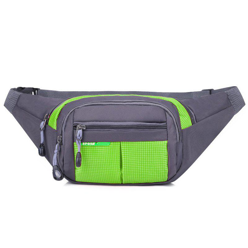 Unisex Colorblock Waist Bag - GREEN