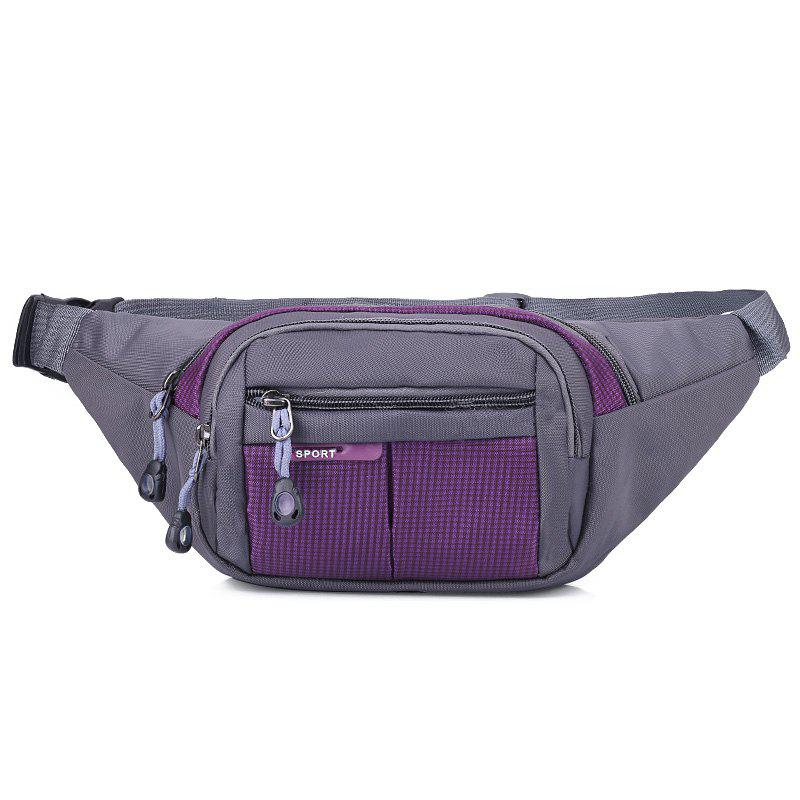 Unisex Colorblock Waist Bag - Pourpre