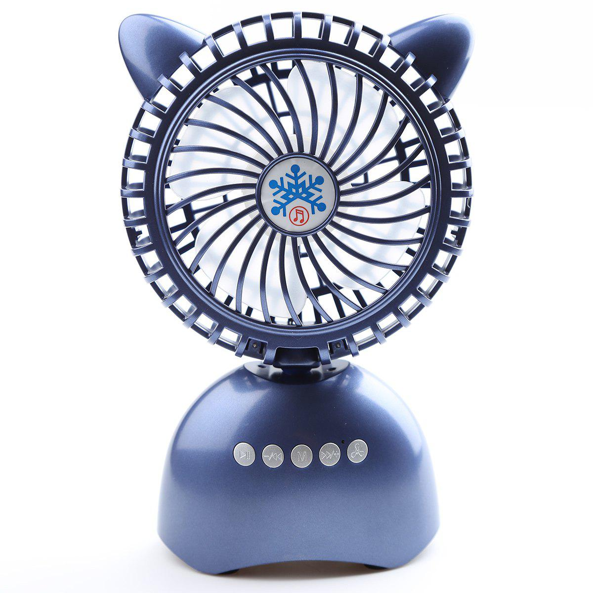 2018 Mini Portable Wireless Bluetooth Speaker Usb Desk Fan