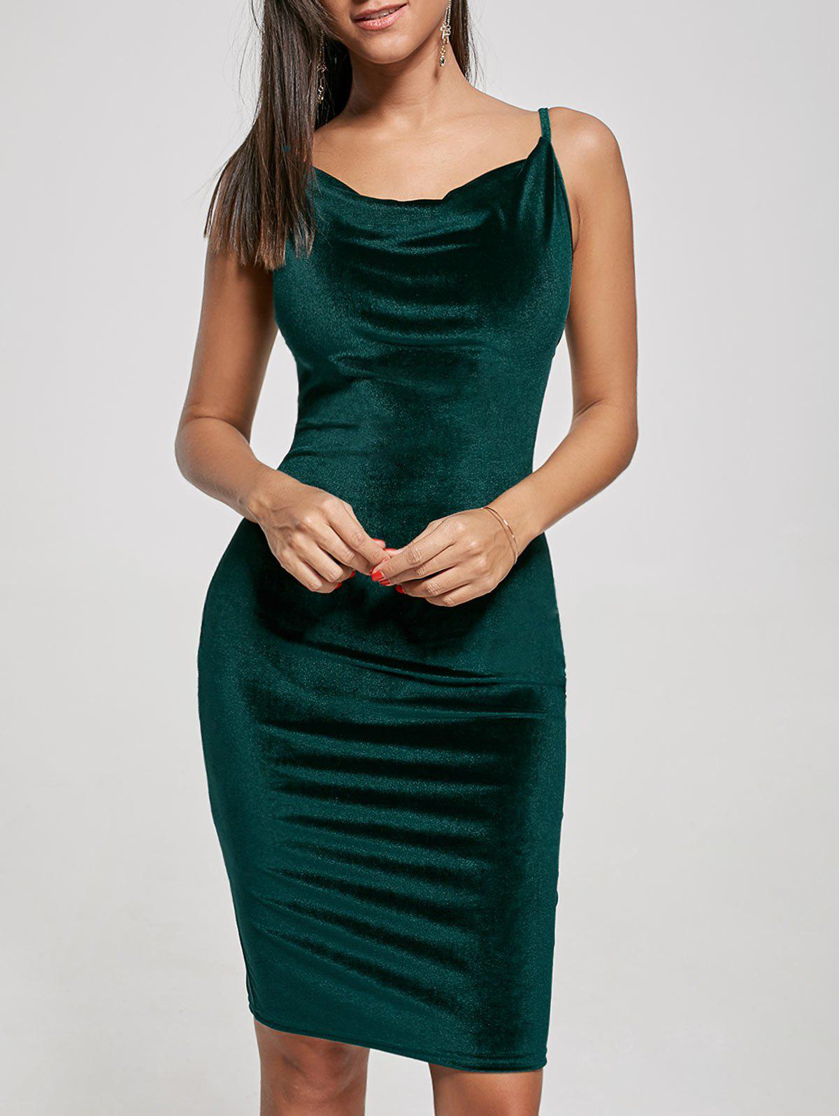 Spaghetti Strap Velvet Dress