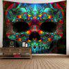 Halloween Skull Wall Art Tapestry - COLORFUL W59 INCH * L51 INCH