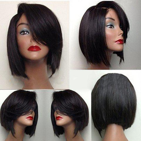 Limited Offer 2019 Deep Side Part Straight Short Bob Synthetic Wig