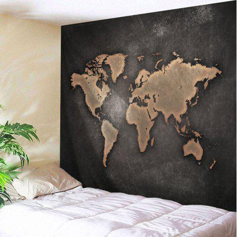 Seven Continents Map Tapestry Wall Hanging - DUN W59 INCH * L79 INCH