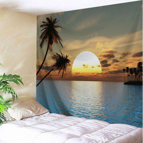 Home Decor Wall Art Sea Sunset Tapestry - COLORMIX W59 INCH * L79 INCH
