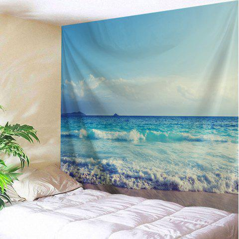 Sea Wave Wall Hanging Fabric Tapestry - SKY BLUE W59 INCH * L79 INCH