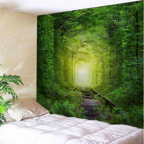 Fairy Forest Railway Wall Decoration Hanging Tapestry - GREEN W59 INCH * L79 INCH
