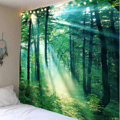 Sunlight Forest Wall Art Tapestry - GREEN W59 INCH * L59 INCH