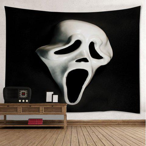 Wall Hanging Art Halloween Ghost Mask Print Tapestry - BLACK W59 INCH * L59 INCH