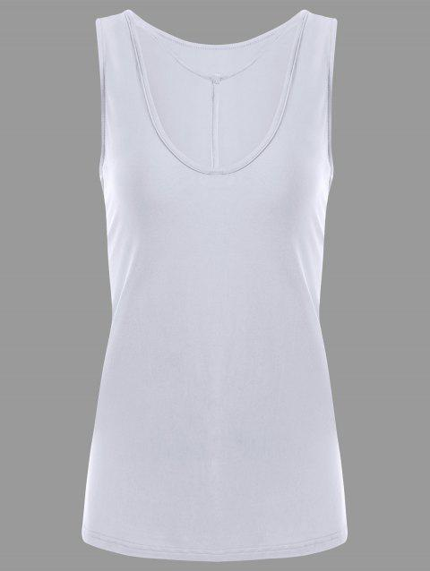 Y-strap Casual Tank Top - Blanc XL