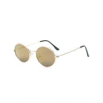 Oval Anti UV Sunglasses - LUXURY GOLD COLOR LUXURY GOLD COLOR