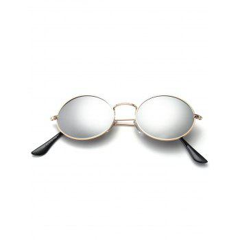 Oval Anti UV Sunglasses - SILVER