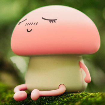 LED Cartoon Mushroom USB Rechargeable Night Light - PINK