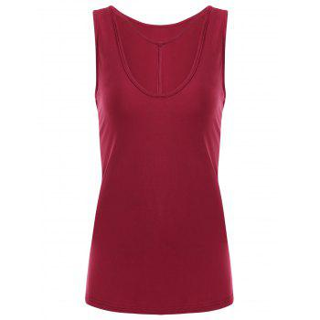 Y-strap Casual Tank Top - RED 2XL