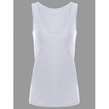 Y-strap Casual Tank Top - WHITE M