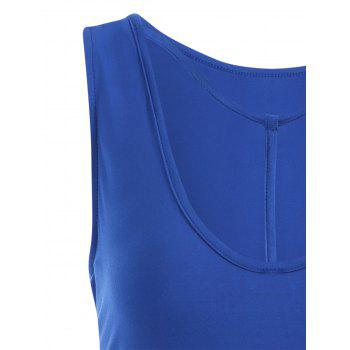 Y-strap Casual Tank Top - BLUE 2XL