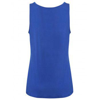 Y-strap Casual Tank Top - Bleu 2XL